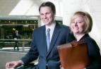 Attorney Christopher J. Burns and Paralegal Tara Solander-Lee