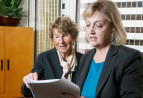 Attorney Kathryn A. Graves and Paralegal Elizabeth Sumpton